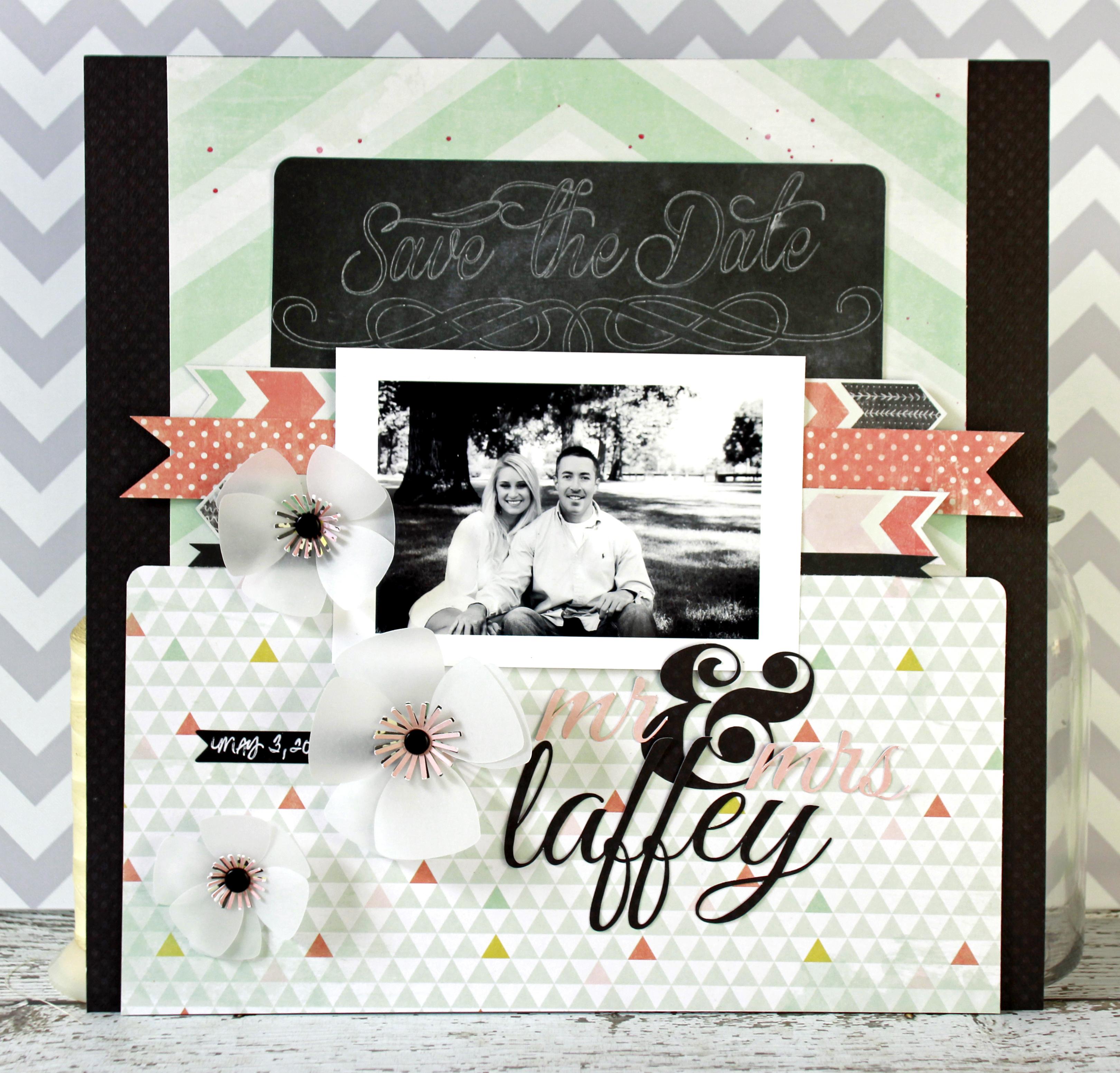 Wedding scrapbook ideas layouts - Jen Chesick Gdt The Layout