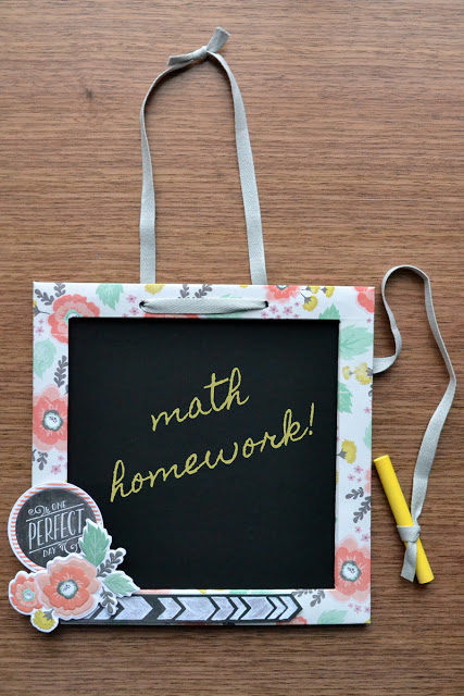To Create This Altered Chalkboard, First I Gathered My Supplies: A Mini  Whiteboard From The Target $1.00 Section, Some Chalkboard Vinyl (found At  Craft And ...