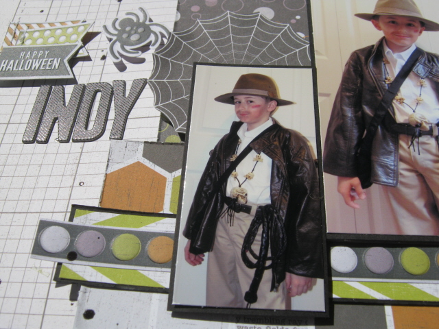 Happy Halloween Indy close up
