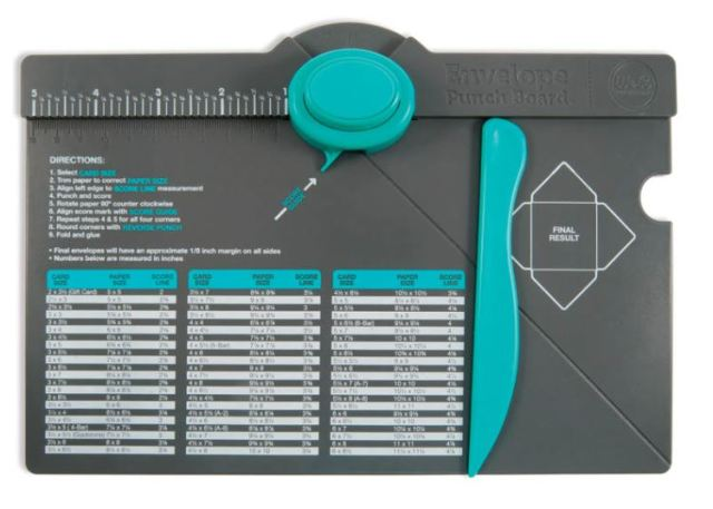 FB giveaway 10-3 envelope punch board