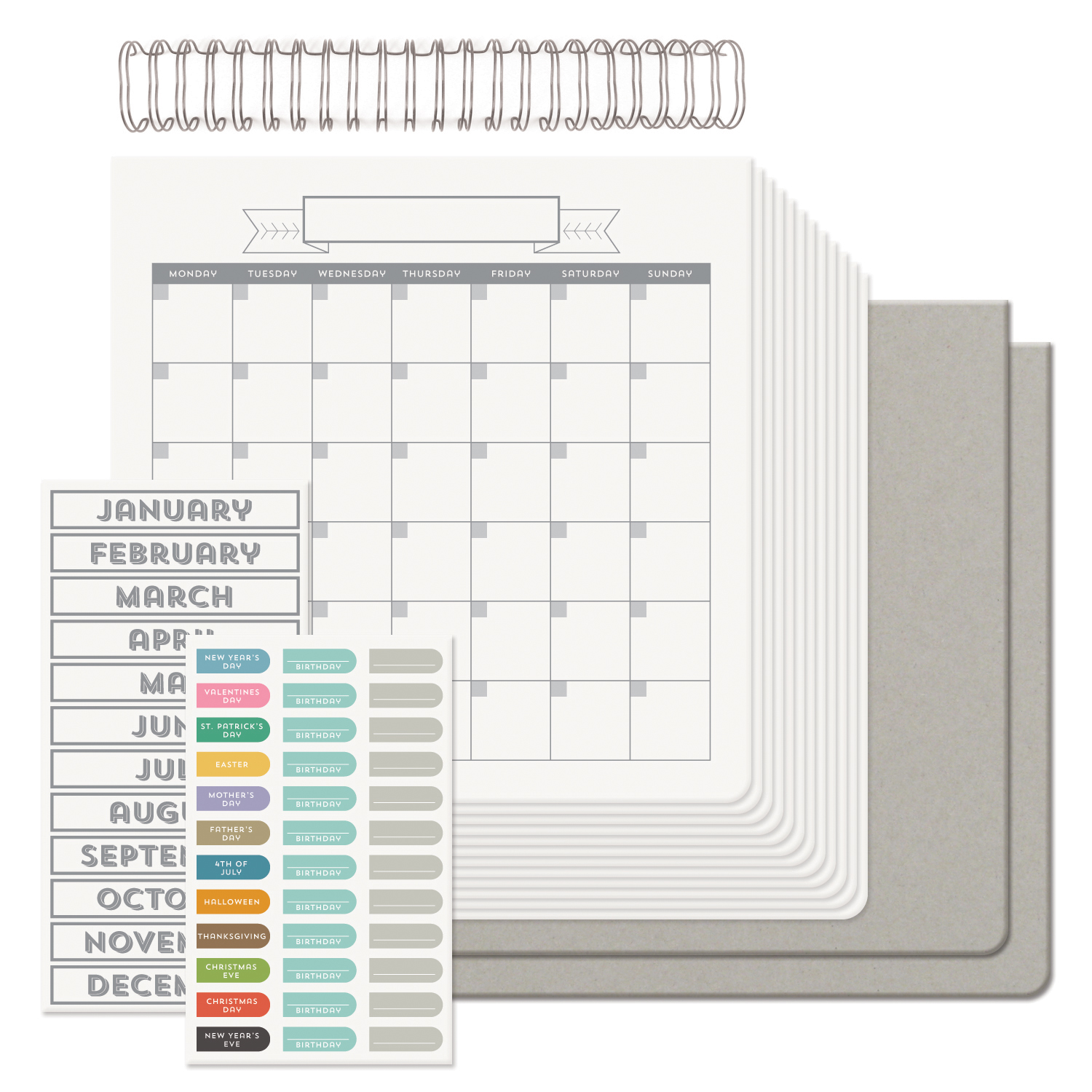 Blank Calendar Kit : Calendar cinch books we r memory keepers