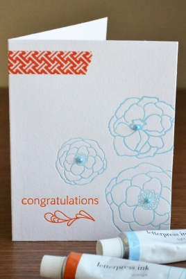 WRMK_seasonal letterpress cards congrats_aly dosdall