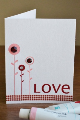WRMK_seasonal letterpress cards vday_aly dosdall