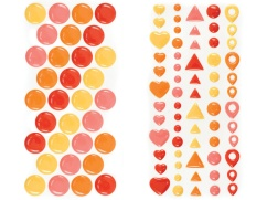 enamel dots and shapes_warm