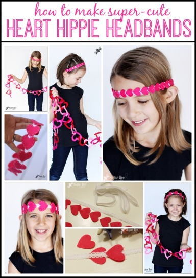 how to make heart hippie headbands