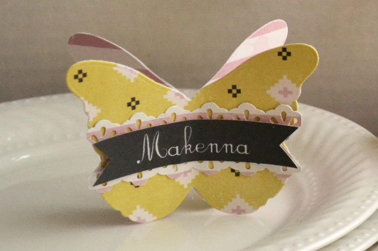 We R_butterfly tea party place card_aly dosdall