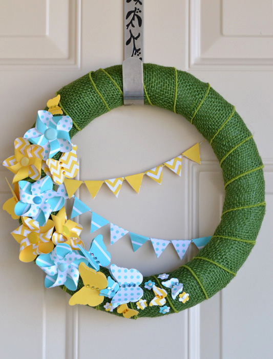 We R Spring Pinwheel Wreath by Aly Dosdall
