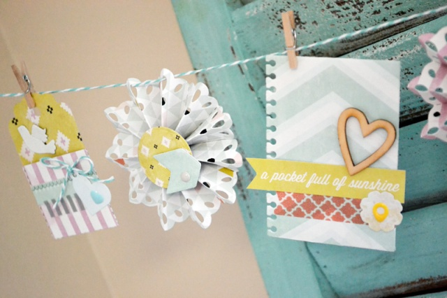 We R Spring Rosette Banner by Aly Dosdall_close 2