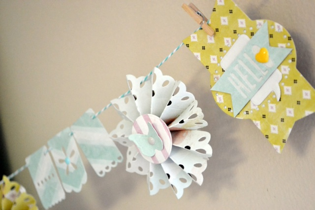 We R Spring Rosette Banner by Aly Dosdall_close 3
