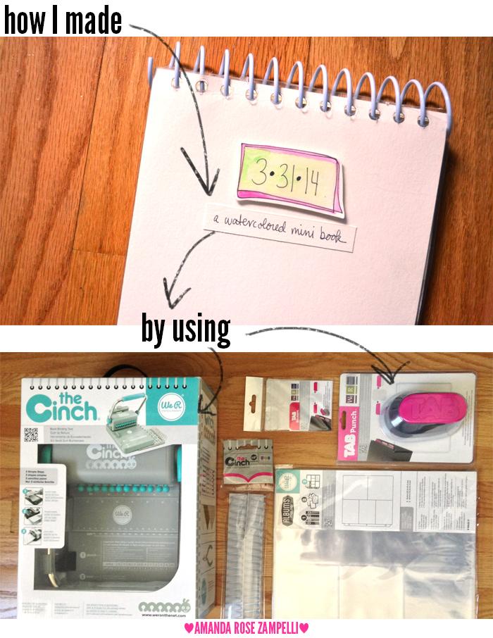 00 We R mini cinch book 01   Amanda Rose blog