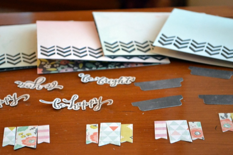 cut out card pieces