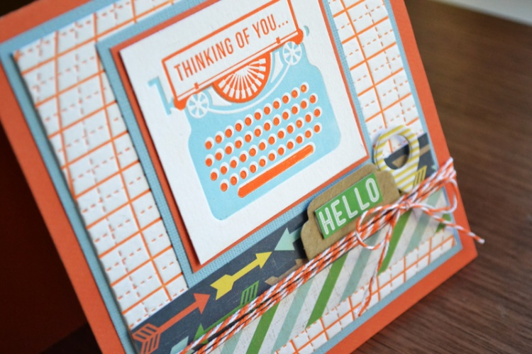 We R Multi Color Letterpress Card by Aly Dosdall close