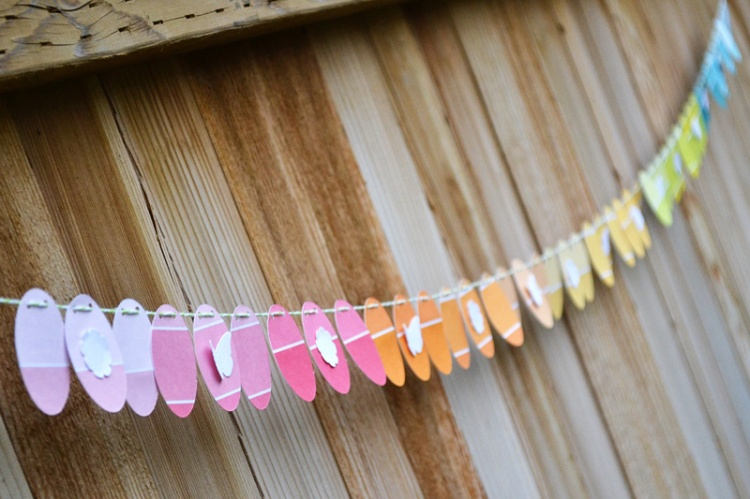 We R Paint Chip Easter Garland by Aly Dosdall close 1