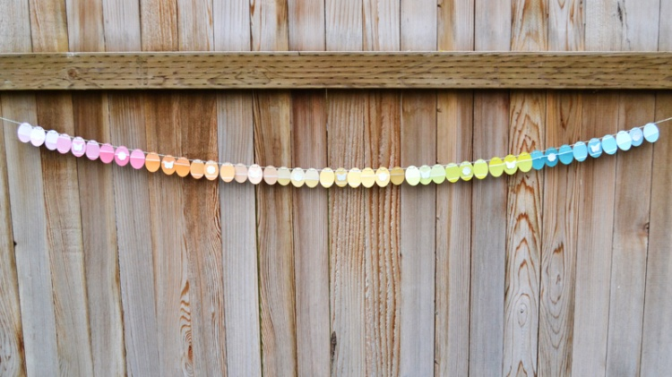 We R Paint Chip Easter Garland by Aly Dosdall