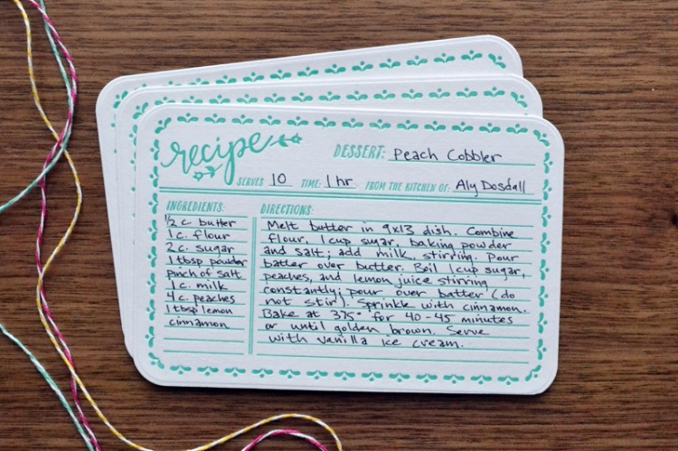 Recipe Card Gift Set 3