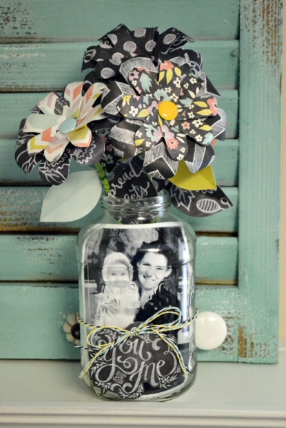 We R Mason Jar Photo Display by Aly Dosdall
