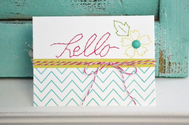 We R Sew Easy Template Card by Aly Dosdall