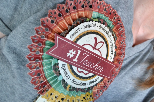 We R Teacher Rosette Badge by Aly Dosdall_close