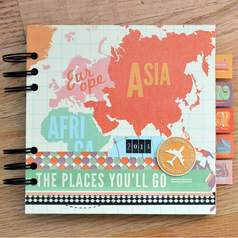 Travel Book Cover : Travel mini album with the cinch we r memory keepers