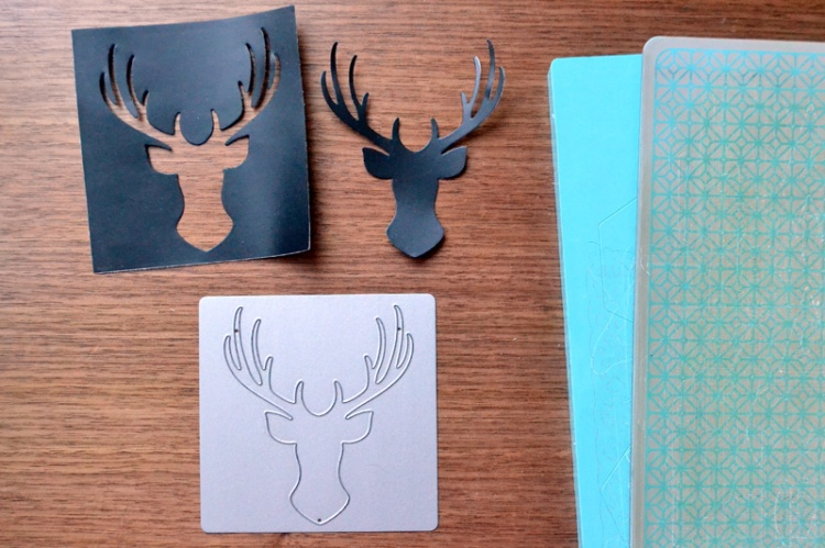 die cut vinyl antlers