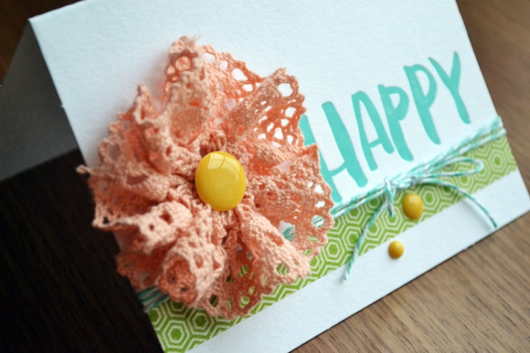 We R Happy Card by Aly Dosdall_close