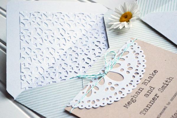 We R DIY Doily Wedding Invitations by Aly Dosdall 2