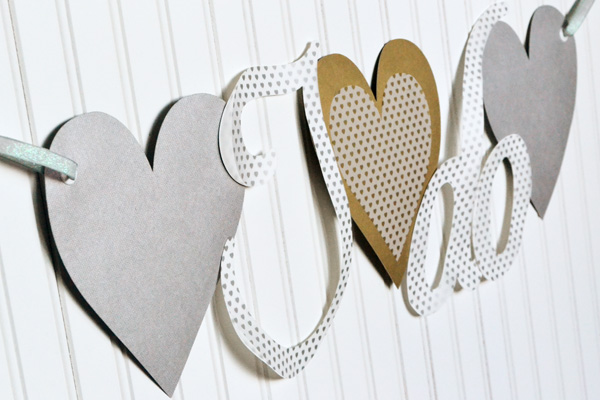 We R DIY Wedding Banner by Aly Dosdall close 1