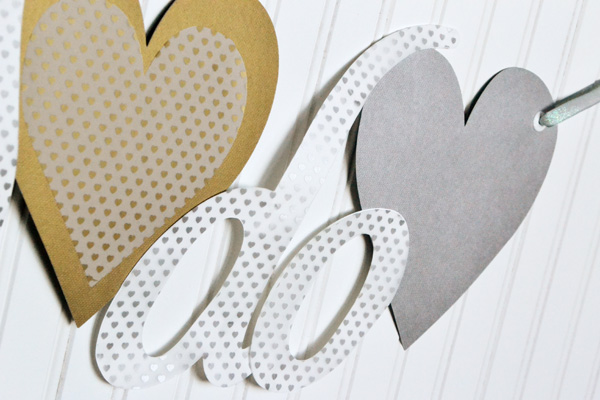 We R DIY Wedding Banner by Aly Dosdall close 2