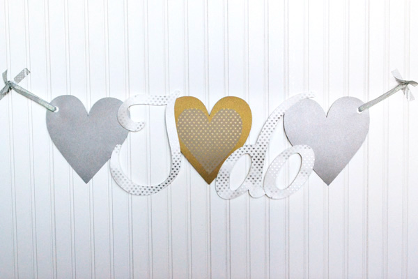 We R DIY Wedding Banner by Aly Dosdall