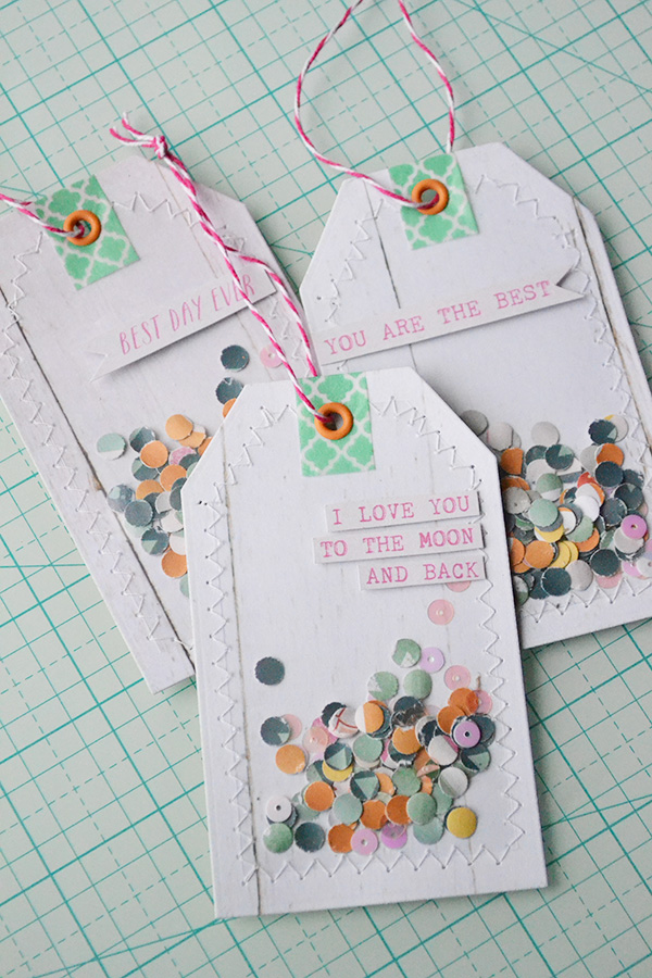 Confetti Gift Tags by Aly Dosdall