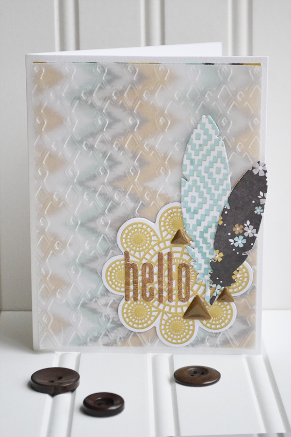 Embossed Vellum Card by Aly Dosdall