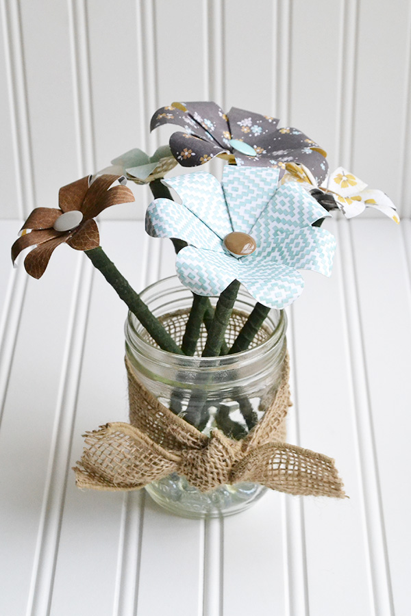 flower pencil jar by aly dosdall