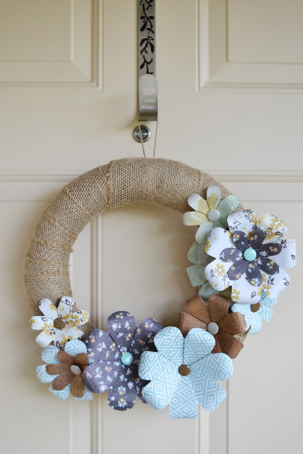 Flower Punch Board Wreath by Aly Dosdall 1