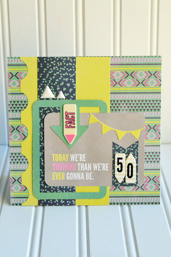 50th Birthday Card by Aly Dosdall