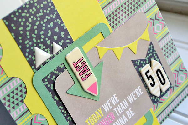 50th Birthday Card by Aly Dosdall_close
