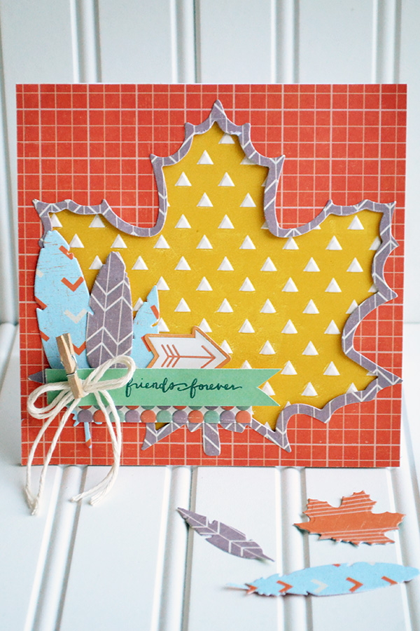 Embossed Fall Card by Aly Dosdall