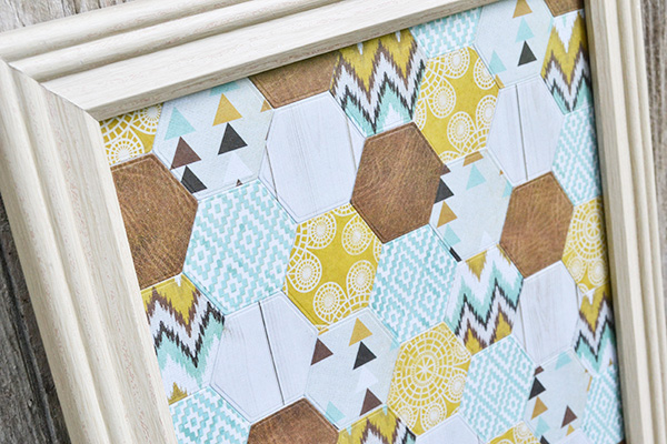 Hexagon Wall Art by Aly Dosdall_close
