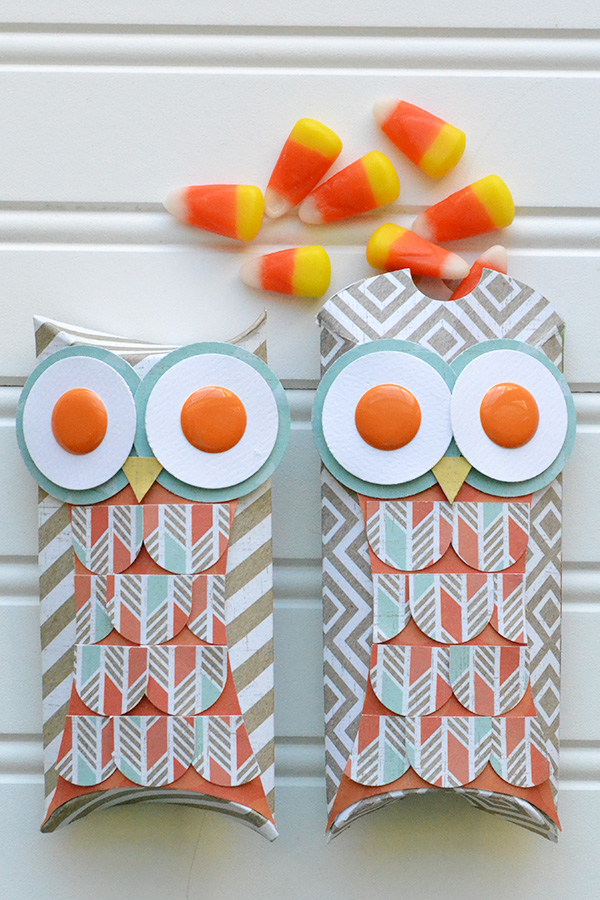 Owl Pillow Boxes by Aly Dosdall
