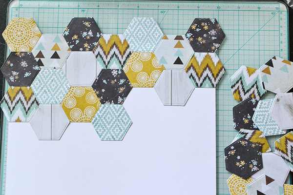 place hexagons