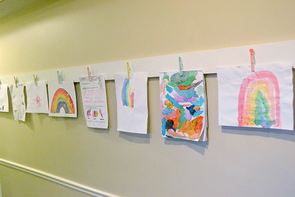 School Work Display Wall by Aly Dosdall