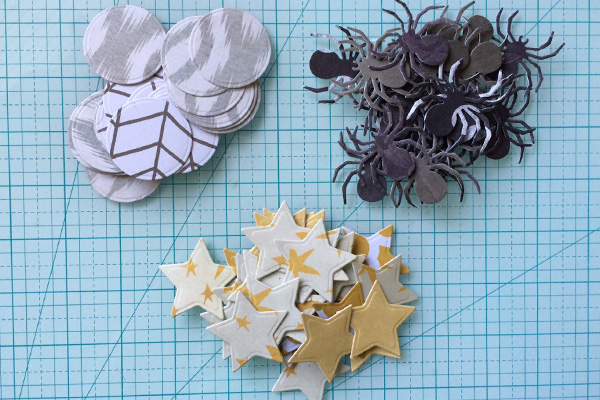 die cut garland shapes