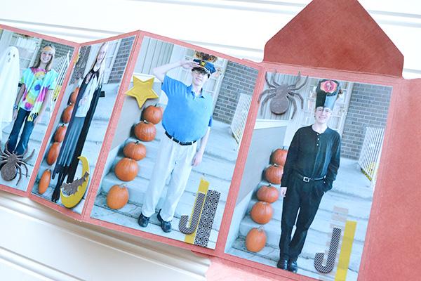 Envelope Punch Board Halloween Brag Book #wermemorykeepers #halloween #envelopepunchboard