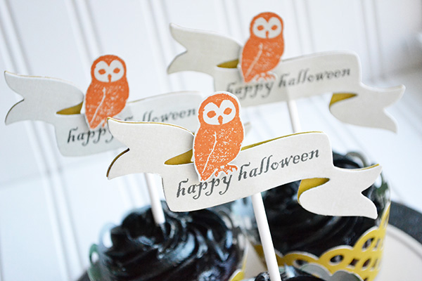 Halloween Cupcake Toppers by Aly Dosdall
