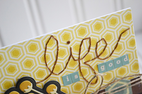 Life Is Good Card by Aly Dosdall_french knot