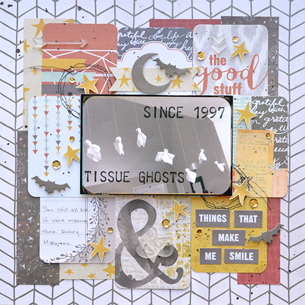 Halloween Traditions Scrapbook Layout by Aly Dosdall for We R Memory Keepers #halloween #scrapbooking