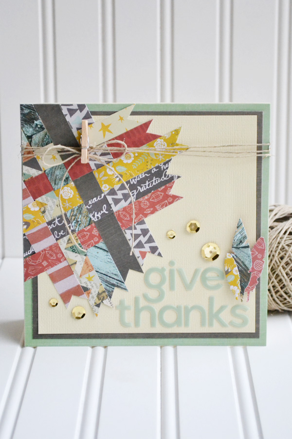 Give Thanks Card by Aly Dosdall