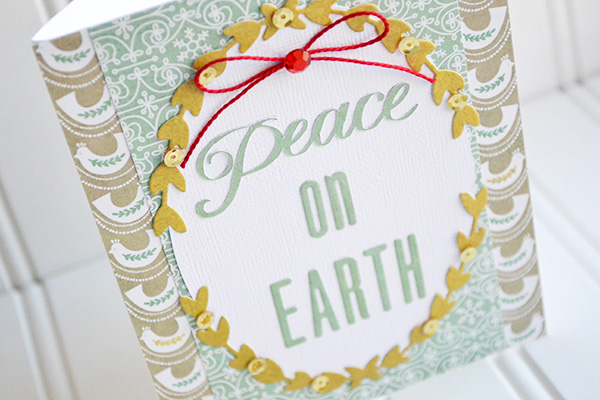 Peace On Earth Card by Aly Dosdall_close
