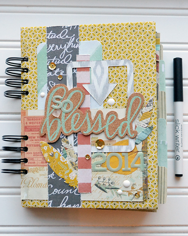 DIY Gratitude Journal by Aly Dosdall for We R Memory Keepers #thecinch #15daysofgratitude #alydosdall