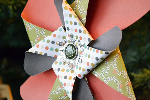 Pinwheel Ornament by Aly Dosdall close