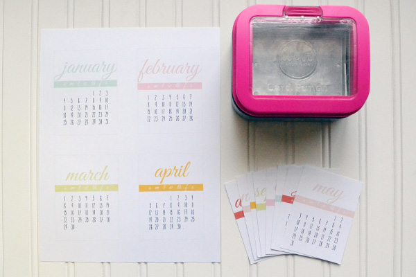 2015 Desk Calendar by Aly Dosdall_card punch